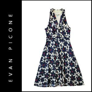Evan Picone Women Halter Floral Sleeveless Dress